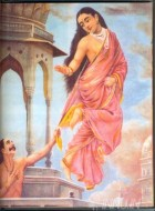 Fine art  - Urvashi and Pururavas by ArtistRaja Ravi Varma