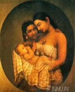 Fine art  - Mother and Child 2 by ArtistRaja Ravi Varma