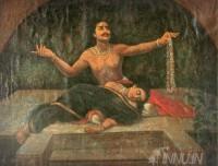Fine art  - Lamentations of Aja by ArtistRaja Ravi Varma