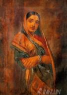 Fine art  - Royal Aunt by ArtistRaja Ravi Varma
