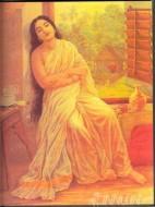 Fine art  - Lady sitting by the window by ArtistRaja Ravi Varma