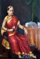 Fine art  - Highness Janaki Subbamma Bai by ArtistRaja Ravi Varma