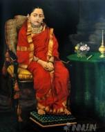 Fine art  - Princess Tarabai by ArtistRaja Ravi Varma