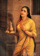 Fine art  - Draupadi in disguise by ArtistRaja Ravi Varma