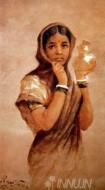 Fine art  - The Milkmaid by ArtistRaja Ravi Varma