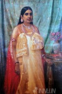 Fine art  - Bharani Thirunal Lakshmi Bayi by ArtistRaja Ravi Varma