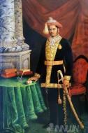Fine art  - Sayajirao Gaekwad, Maharaja of Baroda by ArtistRaja Ravi Varma
