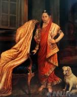 Fine art  - Princess Tharabai by ArtistRaja Ravi Varma
