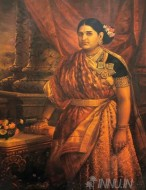 Fine art  - Maharani Lakahmi Bai by ArtistRaja Ravi Varma