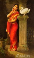 Fine art  - Hamsa Damayanti - Inspired from Raja Ravi Varma