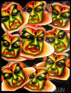 Fine art  - Navarasa in Kathakali by Artist