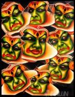 Fine art  - Navarasa in Kathakaliby Artist