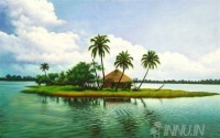 Fine art  - Isolated by Nature by Artist Mahesh