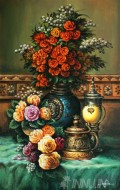Fine art  - Royal Flower Vase by Artist Mahesh