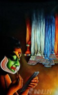 Fine art  - Colourful Greenroom by Artist
