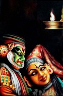 Fine art  - The Kathakali Duo by Artist