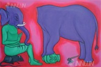 Fine art  - Ganesha by ArtistMurali T