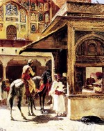 Fine art  - Street scene in india by Artist Edwin Lord Weeks
