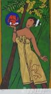 Fine art  - Folklore Kerala-IV Kalyanikuttiyude Keralamby ArtistM F Husain