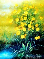 Fine art  - Yellow Flowers by Artist Fasani
