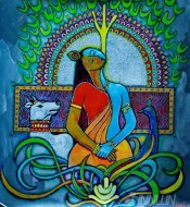 Fine art  - Krishna and Radha by Artist Martin