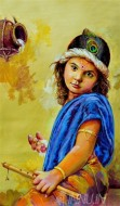 Fine art  - Young Krishna by Artist Martin