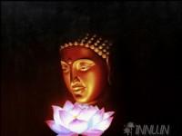 Fine art  - Lotus Buddha by ArtistMahendran