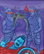 Fine art  - Shambuka Moksham by ArtistMurali T