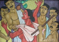 Fine art  - Channar Woman by Artist Murali T