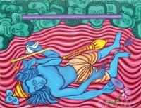 Fine art  - Krishna Moksham by ArtistMurali T