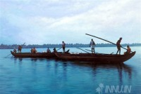 Fine art  - Kerala boats in Lake