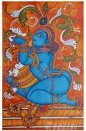 Fine art  - Sri Krishna with butter mural