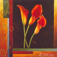 Fine art  - Orange Callas by Artist Jill Deveraux