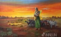 Fine art  - Shepherd Girl