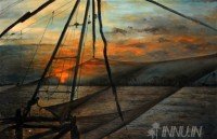 Fine art  - Fishing Netby ArtistRajasekharan Parameswaran