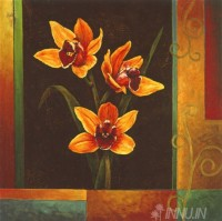 Fine art  - Yellow Orchids  by Artist Jill Deveraux