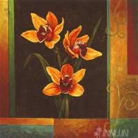 Fine art  - Yellow Orchids by ArtistJill Deveraux