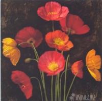 Fine art  - Poppy Bouquet 1 by ArtistJhon Seba