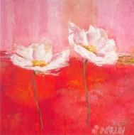 Fine art  - Fleurs En Rose 1 by ArtistIsabelle Herbert