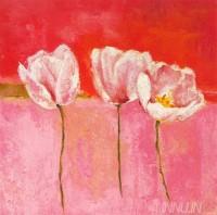 Fine art  - Fleurs En Rose 2 by ArtistIsabelle Herbert