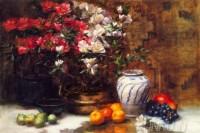 Fine art  - Still Life With Azaleas by ArtistFrank Janca