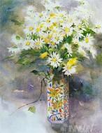 Fine art  - Daisies  by ArtistShirley Felts