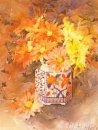 Fine art  - Dahlias by ArtistShirley Felts