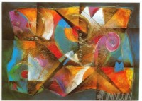 Fine art  - Abstract Composition 12 by ArtistVer Mais