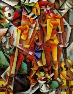 Fine art  - Os Musicosby ArtistGeorge Braque