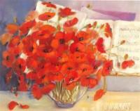 Fine art  - Vase of Poppies