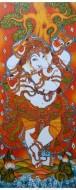 Fine art  - Ganesha Playing Flute