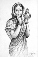 Fine art  - Young Village Girl by Artist