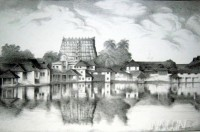 Fine art  - Padmanabha Temple by Artist