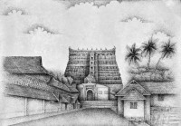 Fine art  - Padmanabha Temple 1by Artist